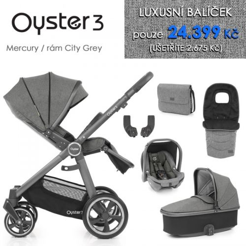 Oyster 3 luxusní set 6 v 1 - Mercury / City Grey