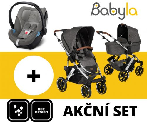 Akční set SALSA 4 AIR ASPHALT DIAMOND EDITIONS 2021 + Cybex Aton 5 Soho Grey