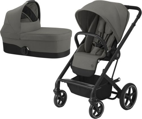 Balios S Lux Black + Carry Cot Soho Grey 2021