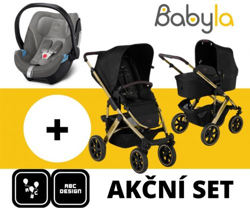 Akční set SALSA 4 AIR CHAMPAGNE DIAMONDS EDITONS 2021 + Cybex Aton 5 Soho Grey