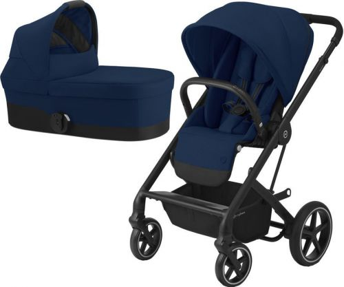 Balios S Lux Black + Carry Cot Navy Blue 2021