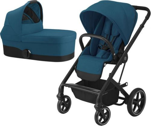 Balios S Lux Black + Carry Cot River Blue 2021