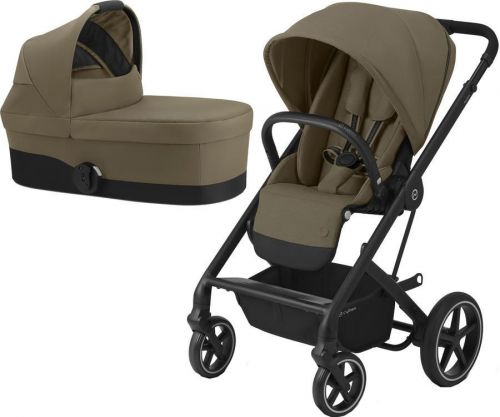 BALIOS S LUX BLACK + CARRY COT CLASSIC BEIGE 2020