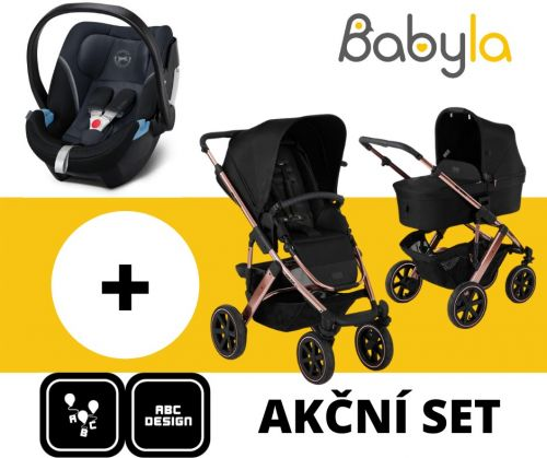 AKČNÍ SET SALSA 4 AIR ROSE GOLD DIAMOND EDITIONS 2020 + CYBEX ATON 5 GRANITE BLACK