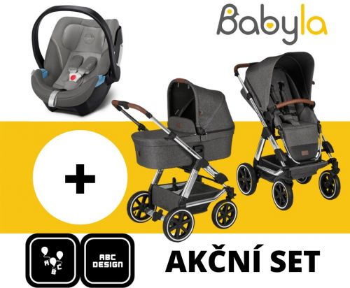 AKČNÍ SET VIPER 4 ASPHALT DIAMOND EDITION 2020 + CYBEX ATON 5 SOHO GREY