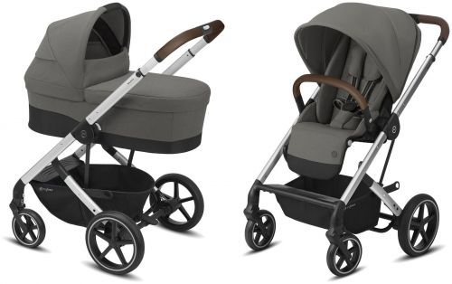 Balios S Lux Silver + Carry Cot Soho Grey 2021