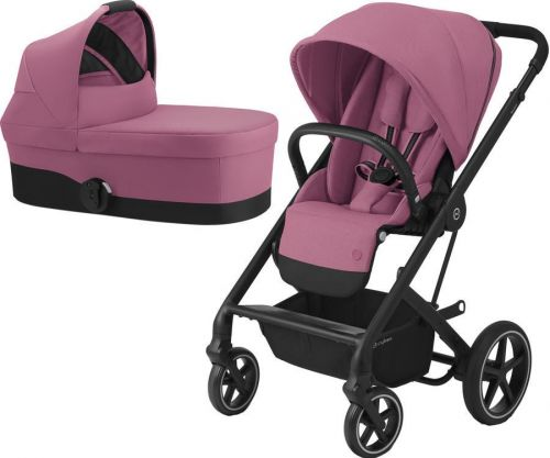 BALIOS S LUX BLACK + CARRY COT MAGNOLIA PINK 2020