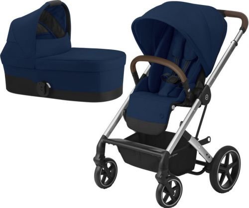 Balios S Lux Silver + Carry Cot Navy Blue 2021