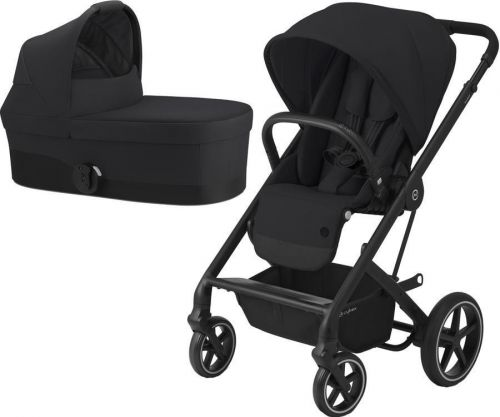 Balios S Lux Black + Carry Cot Deep Black 2021